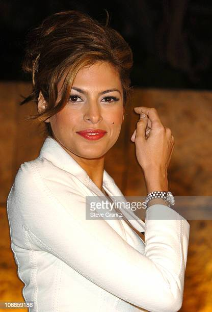 Eva Mendes during Dior and EIF's Women's Cancer Research Fund Celebrate the Launch of Dior Christal at the Getty Center in Los Angeles California...