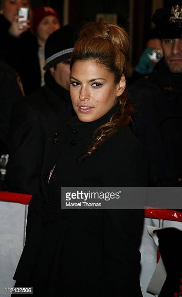 Eva Mendes during 'Ghost Rider' New York City Premiere Outside Arrivals at Regal EWalk Stadium 13 in New York City New York United States