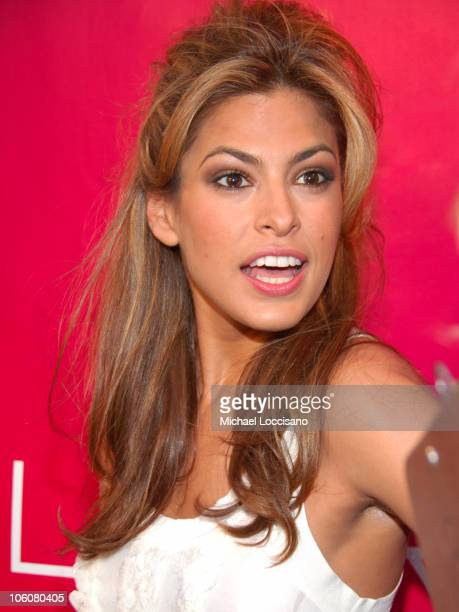 Eva Mendes during Revlon Flair Fragrance Launch May 22 2006 at Mr Chows Tribeca in New York City New York United States