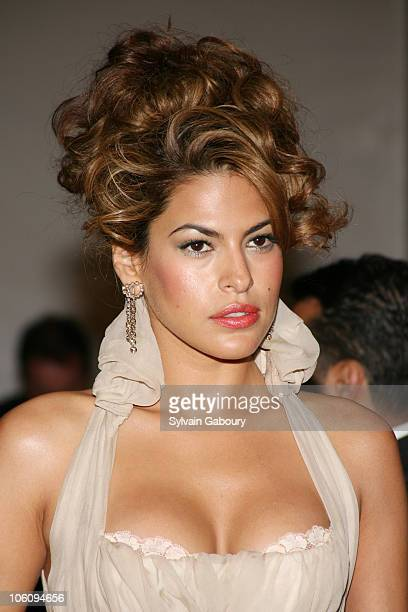 Eva Mendes during The 'Costume Institute Gala' celebrating 'AngloMania Tradition and Transgression on British Fashion' at Metropolitan Museum of Art...