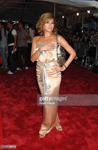 Eva Mendes during 'Trust the Man' New York Premiere Outside Arrivals at Chelsea West Theatre in New York City New York United States