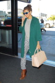 Eva Mendes is seen at LAX airport on February 01 2014 in Los Angeles California