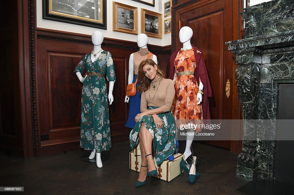 <a gi-track='captionPersonalityLinkClicked' href=/galleries/search?phrase=Eva+Mendes&family=editorial&specificpeople=194937 ng-click='$event.stopPropagation()'>Eva Mendes</a> launches Fall 2015 New York & Company Collection at The Clocktower on September 16, 2015 in New York City.