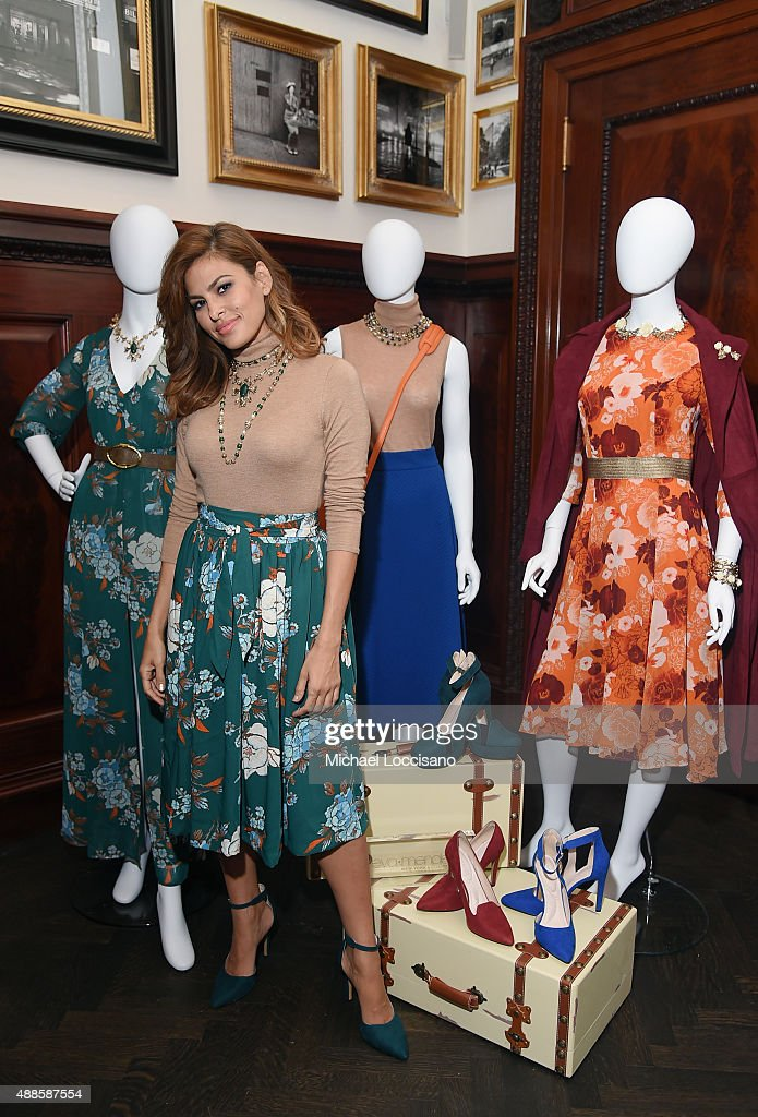 Eva Mendes launches Fall 2015 New York Company Collection at The Clocktower on September 16 2015 in New York City