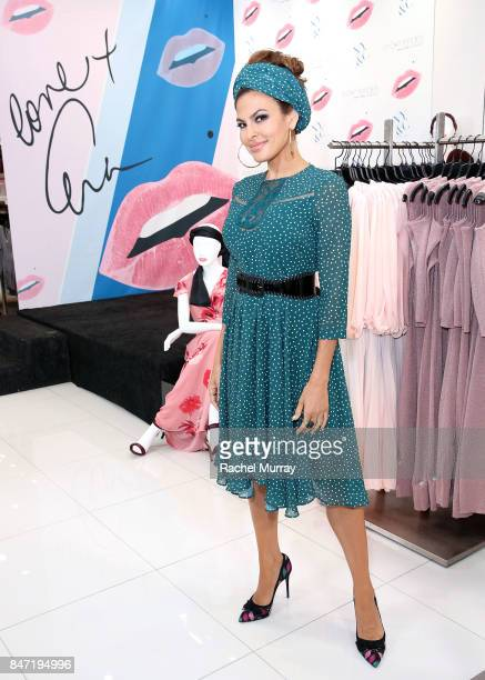 Eva Mendes launches her fall collection with new extended sizes at New York Company in Los Cerritos Center on September 14 2017 in Cerritos California