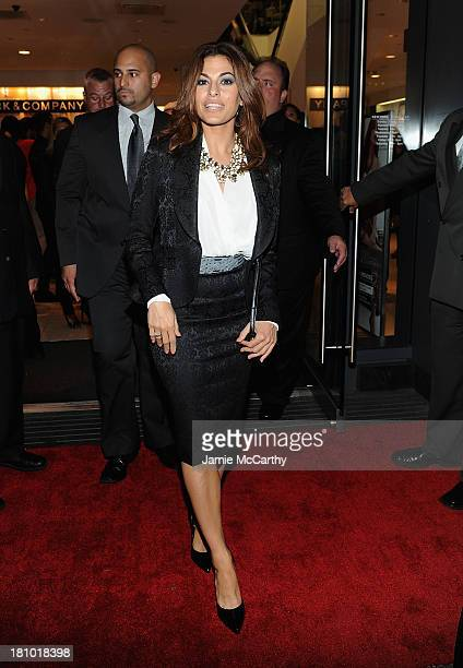 Eva Mendes leaves the Eva Mendes Exclusively at New York Company Launch Event at New York Company on September 18 2013 in New York City