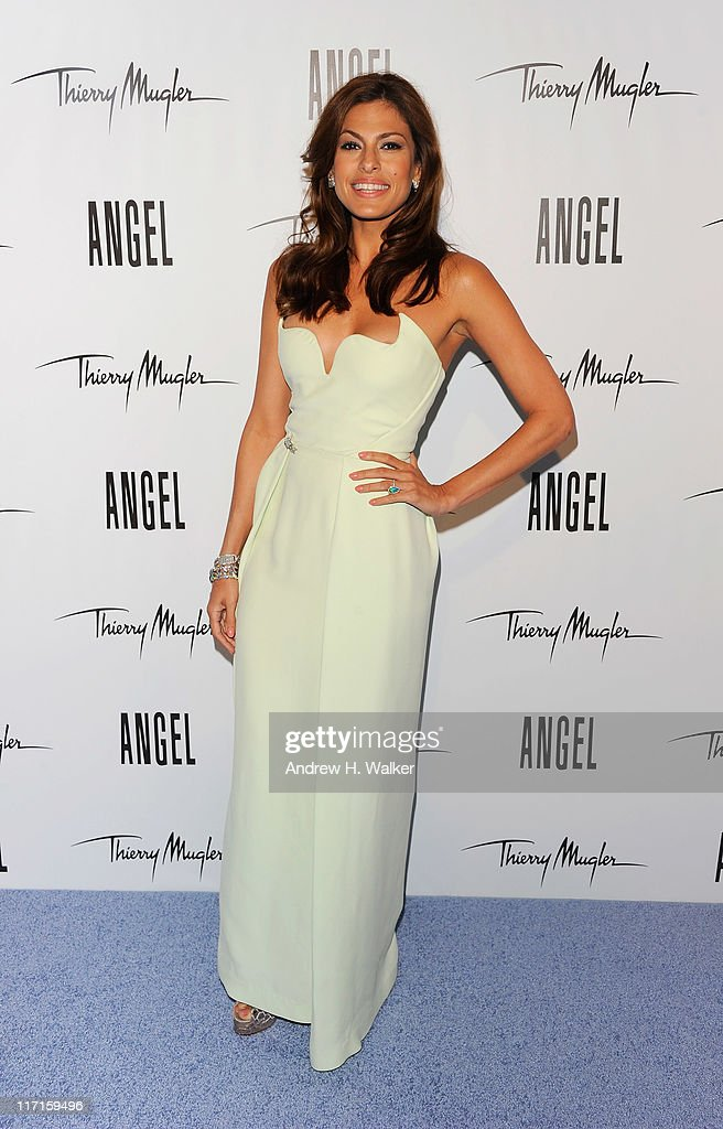 <a gi-track='captionPersonalityLinkClicked' href=/galleries/search?phrase=Eva+Mendes&family=editorial&specificpeople=194937 ng-click='$event.stopPropagation()'>Eva Mendes</a> reveals her new campaign for Angel by Thierry Mugler at IAC Building on June 23, 2011 in New York City.