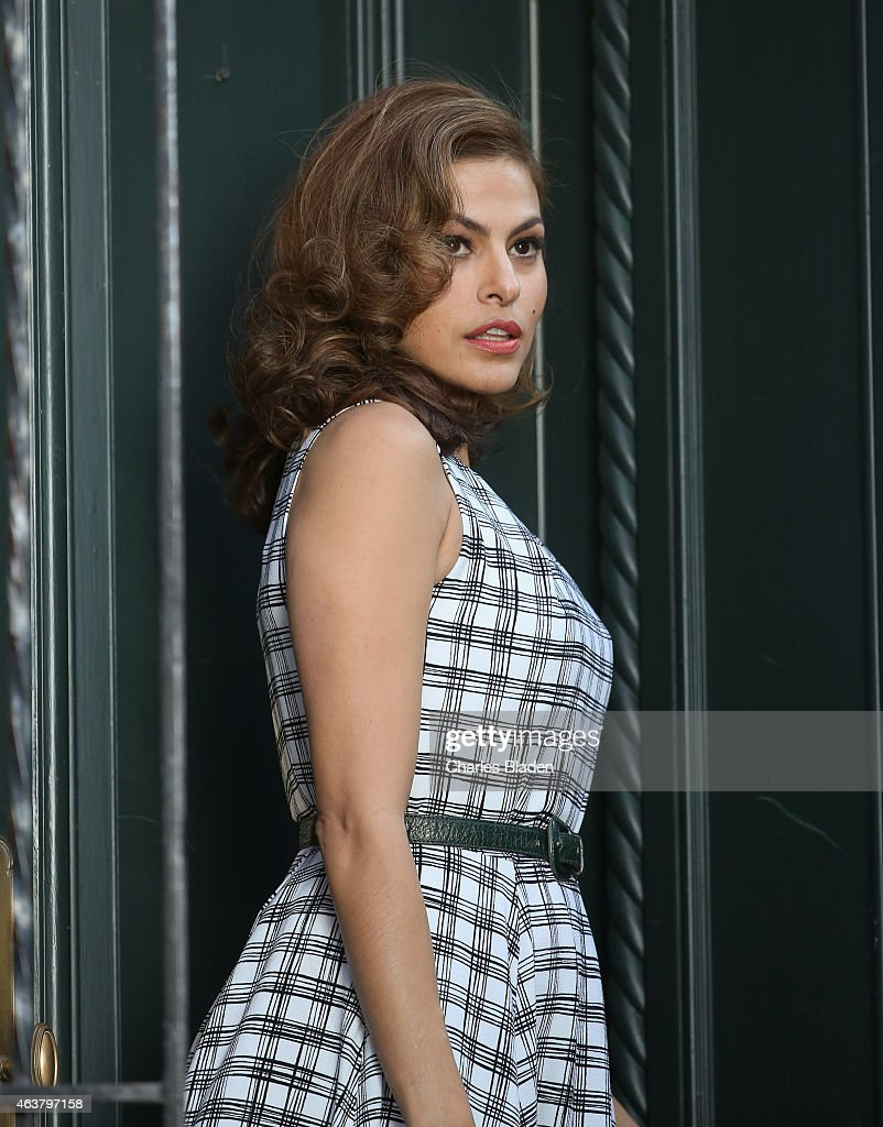 Eva Mendes seen filming a commercial on February 18 2015 in New York City