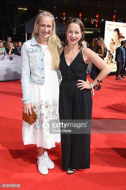 Eva Mona Rodekirchen and SentaSofia Delliponti attend the 'Unsere Zeit ist jetzt' World Premiere at CineStar on September 27 2016 in Berlin Germany