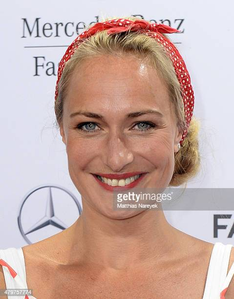 Eva Mona Rodekirchen attends the Lena Hoschek show during the MercedesBenz Fashion Week Berlin Spring/Summer 2016 at Brandenburg Gate on July 7 2015...