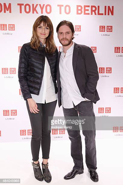 Eva Padberg and Daniel Bruehl attend the Uniqlo PreOpening Party on April 10 2014 in Berlin Germany