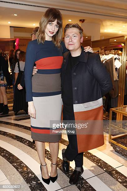 Eva Padberg and Dawid Tomaszewski attend the celebration of 'Der Berliner Mode Salon' by KaDeWe Vogue at KaDeWe on January 18 2017 in Berlin Germany