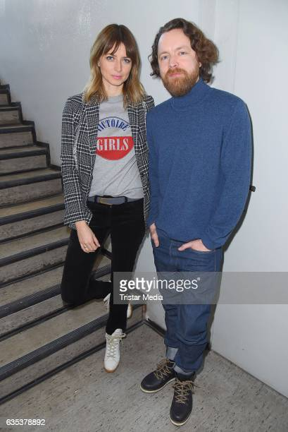 Eva Padberg and her husband Niklas Worgt alias Dapayk pose during the presentation of their new album 'Harbour' on February 14 2017 in Berlin Germany