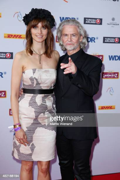 Eva Padberg and Hermann Buehlbecker attend the Chio 2014 media night on July 15 2014 in Aachen Germany
