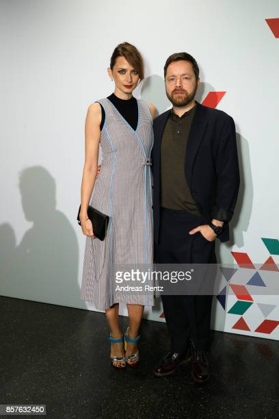 Eva Padberg and Niklas Worgt attend an EAMES Celebration by HUGO BOSS and Vitra Design Museum at Lapidarium on October 4 2017 in Berlin Germany