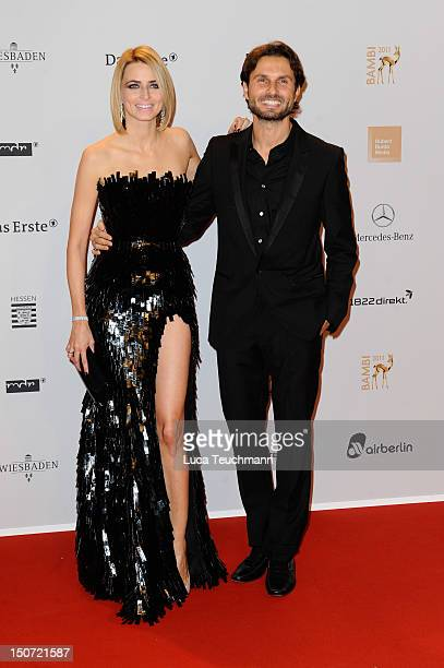 Eva Padberg and Simon Verhoeven attend the Red Carpet for the Bambi Award 2011 ceremony at the RheinMainHallen on November 10 2011 in Wiesbaden...