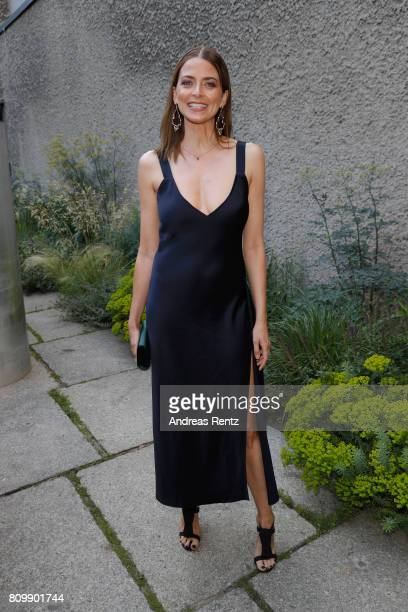 Eva Padberg arrives to the Hugo Boss presentation during 'Der Berliner Mode Salon' Spring/Summer 2018 at St Agnes Church on July 6 2017 in Berlin...