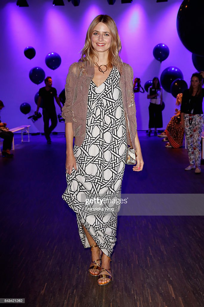 Eva Padberg attends the Dawid Tomaszewski show during the Mercedes-Benz Fashion Week Berlin Spring/Summer 2017 at Stage at me Collectors Room on June 28, 2016 in Berlin, Germany.