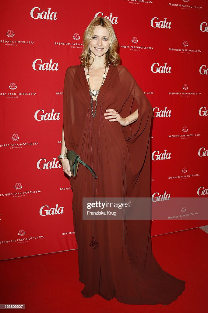 Eva Padberg attends the Gala Spa Awards 2013 at the Brenners Park Hotel on March 16, 2013 in Berlin, Germany.