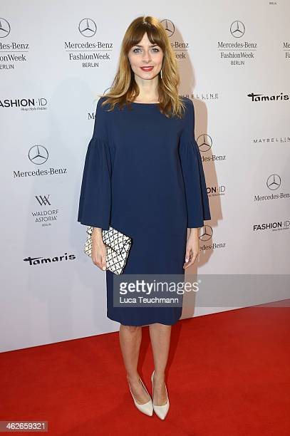 Eva Padberg attends the Kilian Kerner show during MercedesBenz Fashion Week Autumn/Winter 2014/15 at Brandenburg Gate on January 14 2014 in Berlin...