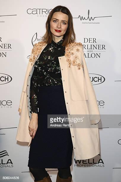 Eva Padberg attends the Marina Hoermanseder show as part of Der Berliner Mode Salon during the MercedesBenz Fashion Week Berlin Autumn/Winter 2016 at...