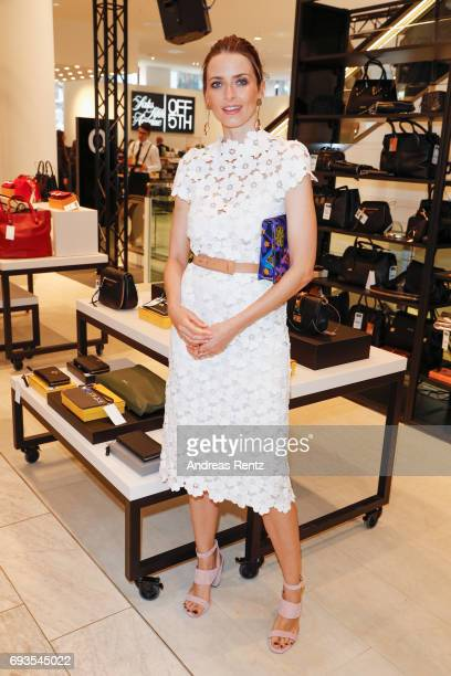 Eva Padberg attends the preopening party 'Saks OFF 5TH' at Carsch Haus on June 7 2017 in Duesseldorf Germany