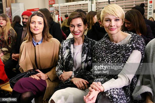 Eva Padberg Christiane Paul and Susann Atwell attend the Perret Schaad show during the MercedesBenz Fashion Week Berlin Autumn/Winter 2016 at on...
