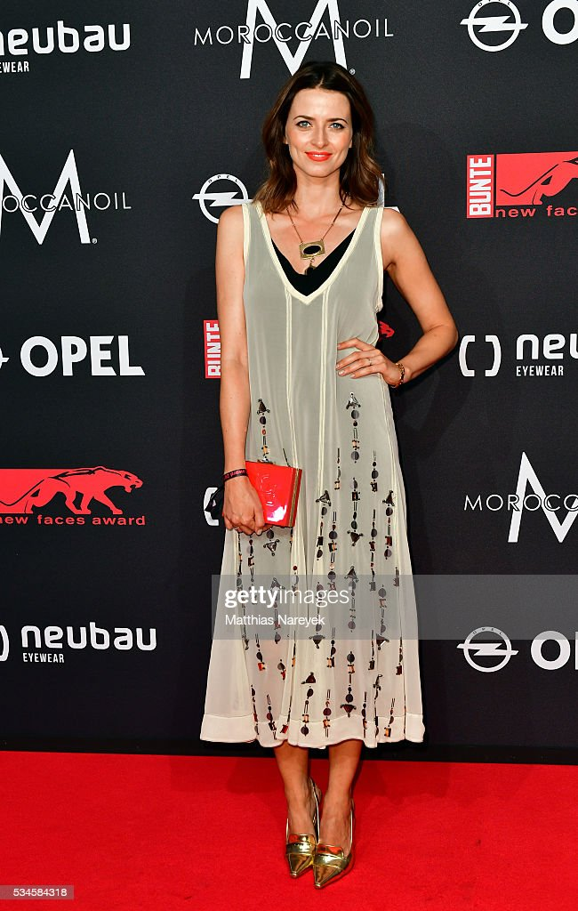 <a gi-track='captionPersonalityLinkClicked' href=/galleries/search?phrase=Eva+Padberg&family=editorial&specificpeople=206867 ng-click='$event.stopPropagation()'>Eva Padberg</a> during the New Faces Award Film 2015 at ewerk on May 26, 2016 in Berlin, Germany.