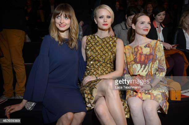 Eva Padberg Franziska Knuppe and Karoline Herfurth attend the Kilian Kerner show during MercedesBenz Fashion Week Autumn/Winter 2014/15 at...