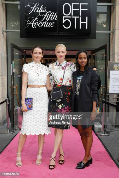 Eva Padberg Franziska Knuppe and Sara Nuru attend the preopening party 'Saks OFF 5TH' at Carsch Haus on June 7 2017 in Duesseldorf Germany