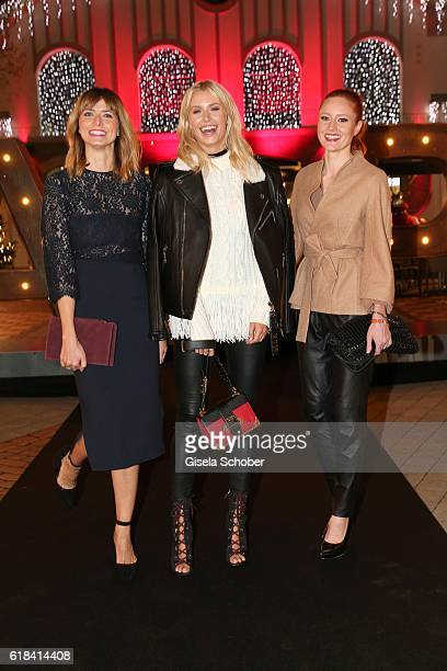 Eva Padberg Lena Gercke and Barbara Meier during the society shopping event at Ingolstadt Village on October 26 2016 in Ingolstadt Germany