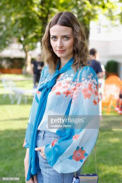 Eva Padberg poses at the Rianna Nina Defile during 'Der Berliner Mode Salon' Spring/Summer 2018 at Kronprinzenpalais on July 5 2017 in Berlin Germany