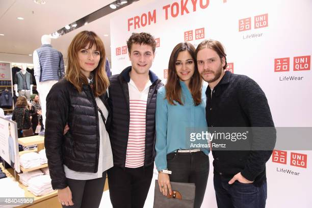 Eva Padberg Samuel Schneider Nilam M Farooq and Daniel Bruehl attend the Uniqlo PreOpening Party on April 10 2014 in Berlin Germany
