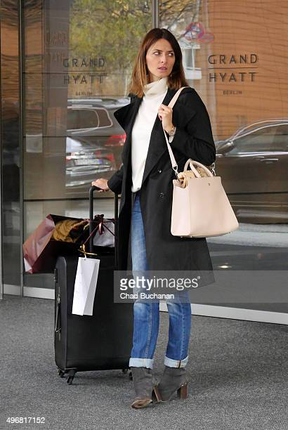 Eva Padberg sighted at the Grand Hyatt Berlin Hotel on November 12 2015 in Berlin Germany