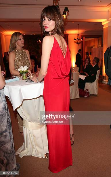 Eva Padberg wearing a dress by BOSS poses during the Gala Spa Awards 2015 at Brenners ParkHotel Spa on March 21 2015 in BadenBaden Germany