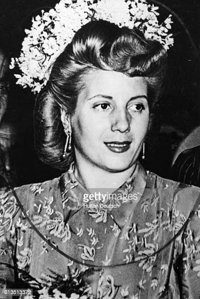 An actress before her marriage in 1945 she became a powerfull political influence agitating for women's suffrage and aquiring control of newspapers...