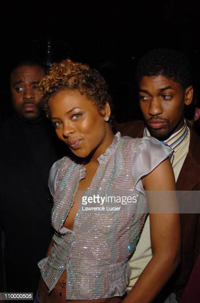 Eva Pigford and Fonzworth Bentley during Kanye West and Fonzworth Bentley Host Rip The Runway Viewing Party at Cielo in New York City New York United...