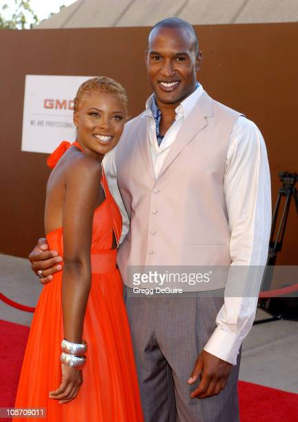 Eva Pigford and Henry Simmons during 10th Annual Soul Train Lady of Soul Awards Arrivals at Pasadena Civic Auditorium in Pasadena California United...