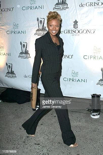 Eva Pigford during Cipriani's Wall Street Concert Series Featuring Lionel Richie at Cipriani's Wall Street in New York City New York United States