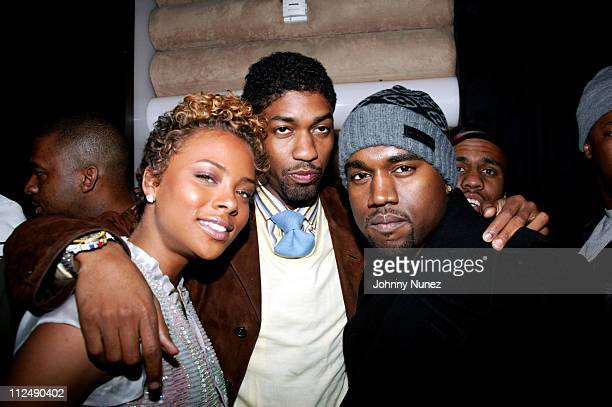 Eva Pigford Fonzworth Bentley and Kanye West during Kanye West and Groovevoltcom Present a Private Screening of BET's 'Rip the Runway' at Cielo in...