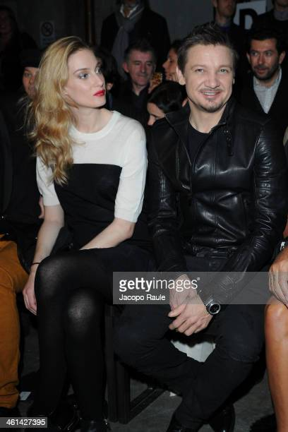 Eva Riccobono and Jeremy Renner attend Diesel Black Gold fashion show during Pitti Immagine Uomo 85 on January 8 2014 in Florence Italy