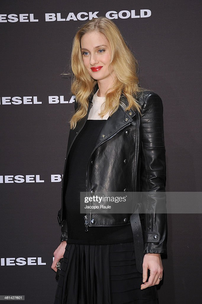 Eva Riccobono attends Diesel Black Gold fashion show during Pitti Immagine Uomo 85 on January 8, 2014 in Florence, Italy.