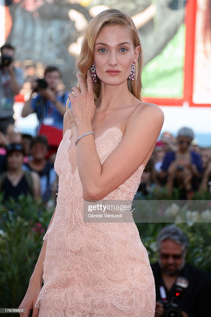<a gi-track='captionPersonalityLinkClicked' href=/galleries/search?phrase=Eva+Riccobono&family=editorial&specificpeople=885062 ng-click='$event.stopPropagation()'>Eva Riccobono</a> attends 'Gravity' premiere and Opening Ceremony during The 70th Venice International Film Festival at Sala Grande on August 28, 2013 in Venice, Italy.