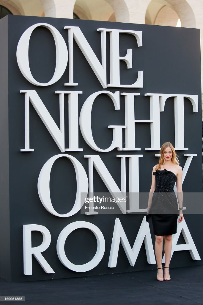 <a gi-track='captionPersonalityLinkClicked' href=/galleries/search?phrase=Eva+Riccobono&family=editorial&specificpeople=885062 ng-click='$event.stopPropagation()'>Eva Riccobono</a> attends 'One Night Only' hosted by Giorgio Armani at Museo Della Civilta Del Lavoro in Roma on June 5, 2013 in Rome, Italy.
