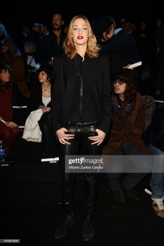 <a gi-track='captionPersonalityLinkClicked' href=/galleries/search?phrase=Eva+Riccobono&family=editorial&specificpeople=885062 ng-click='$event.stopPropagation()'>Eva Riccobono</a> attends the Roberto Cavalli fashion show as part of Milan Fashion Week Menswear Autumn/Winter 2012 on January 14, 2012 in Milan, Italy.