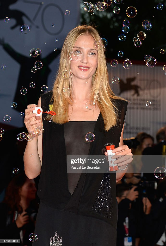 <a gi-track='captionPersonalityLinkClicked' href=/galleries/search?phrase=Eva+Riccobono&family=editorial&specificpeople=885062 ng-click='$event.stopPropagation()'>Eva Riccobono</a> attends the 'Tracks' premiere during the 70th Venice International Film Festival at the Palazzo del Cinema on August 29, 2013 in Venice, Italy.