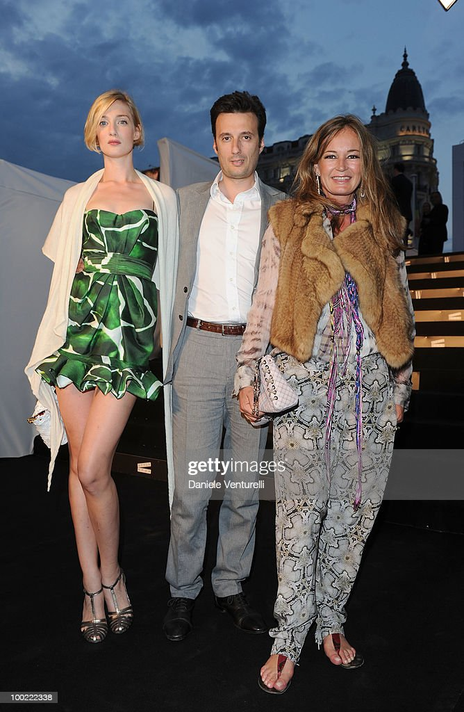 Eva Riccobono, Matteo Ceccarini and Eva Cavalli attend the Style Star Party at Carlton Beach during the 63rd Annual International Cannes Film Festival on May 21, 2010 in Cannes, France.