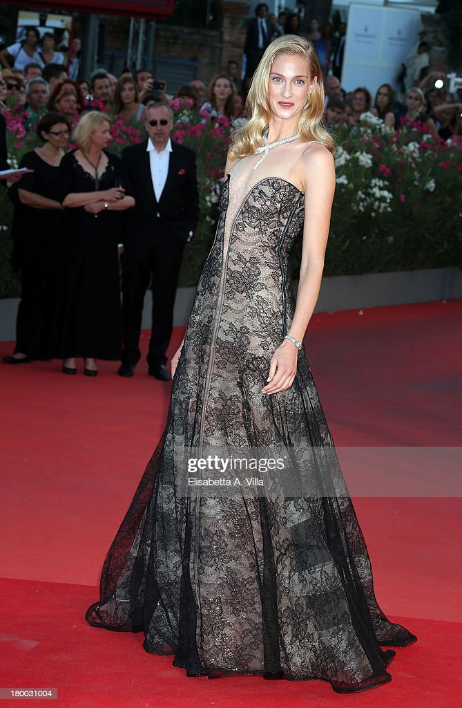 Eva Riccobonoi arrives at the closing ceremony of the 70th Venice International Film Festival at Palazzo del Cinema on September 7, 2013 in Venice, Italy.
