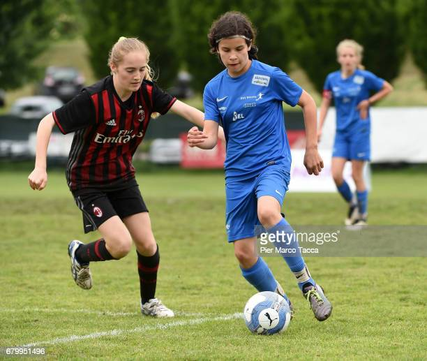 Eva Scnatzer of SSV Brixen obi Women Under 12 during the match between AC Milan and SSV Brixen obi for Danone Nations Cup 2017 on May 7 2017 in Zevio...