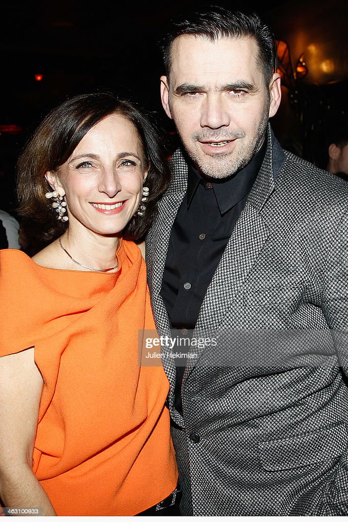 Eva Taub and <a gi-track='captionPersonalityLinkClicked' href=/galleries/search?phrase=Roland+Mouret+-+Fashion+Designer&family=editorial&specificpeople=4863595 ng-click='$event.stopPropagation()'>Roland Mouret</a> attend the Robert Clergerie and <a gi-track='captionPersonalityLinkClicked' href=/galleries/search?phrase=Roland+Mouret+-+Fashion+Designer&family=editorial&specificpeople=4863595 ng-click='$event.stopPropagation()'>Roland Mouret</a> Cocktail Party as part of Paris Fashion Week on January 16, 2014 in Paris, France.